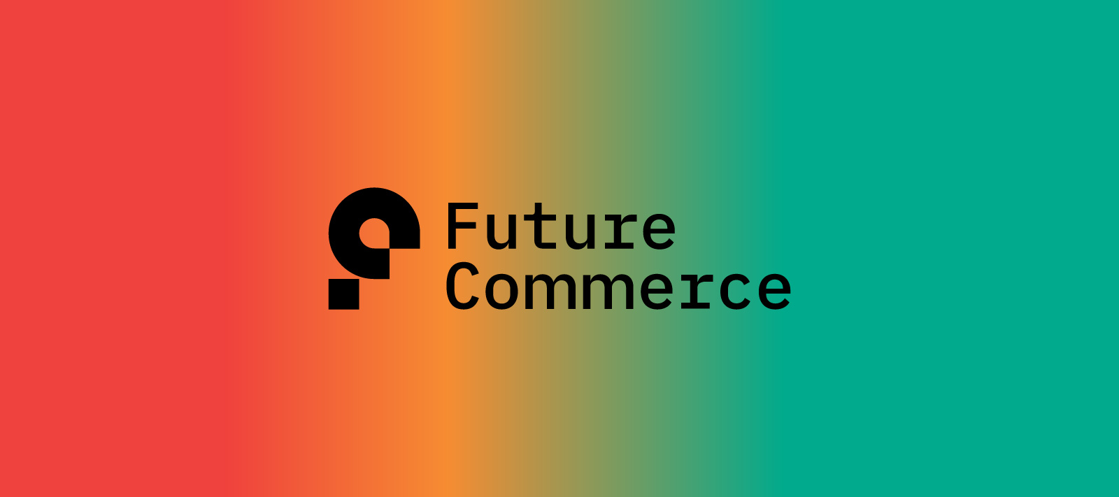 Future Commerce Logo with Gradient Background